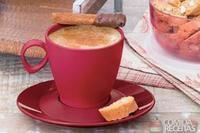 Cappuccino com chantily