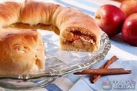 Rosca de castanha e maçã