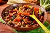 Picadinho de carne com legumes especial