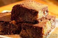 Brownie de café e manteiga de amendoim