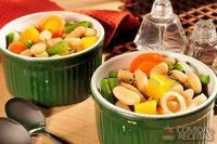 Cozido de legumes com feijão branco e alecrim