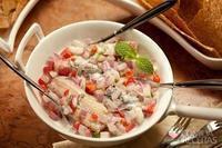 Escabeche de sardinha e leite de coco