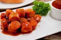 Salsicha com molho