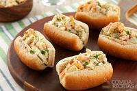 Lanchinho de maionese com camarão