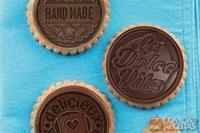 Bolacha de canela com chocolate