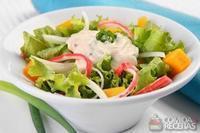 Salada com manga especial