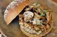Hambúrguer de cogumelo com cevada