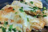 Peitos de frango com maionese