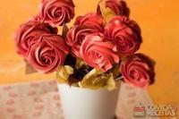 Rosa de suspiro com ganache de limão siciliano