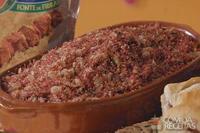 Sanduíche de paçoca de carne seca