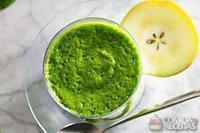 Suco verde com pera