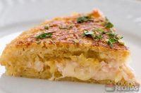 Batata suíça de batata palha