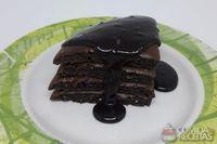 Bolo de chocolate de frigideira fit