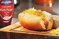 Hot dog com crisp de mandioquinha