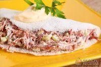 Mini tapioca com carne seca