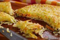 Batata rosti com recheio de vegetais e queijo