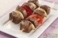 Espetinho de carne especial