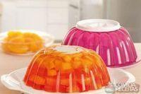 Gelatina colorida de frutas