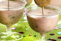 Geladinho de iogurte com biscoito