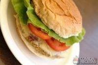 Hambúrguer vegetariano da família burger