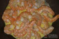 Camarão grelhado com manteiga picante