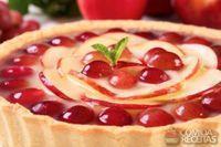 Torta de maçã e uva