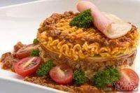 Lasanha com o espaguete nissin