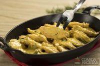 Frango sassami ao curry