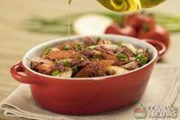 Salada de mandioquinha com carne seca
