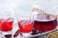 Chá de hibisco com especiarias