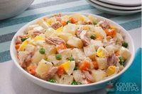 Salada de maionese com batata e atum