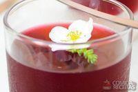 Gelatina de hibisco com melancia