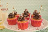 Cupcake de cenoura com brigadeiro especial