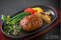 Hambúrguer caseiro de carne fitness
