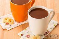 Chocolate quente saboroso