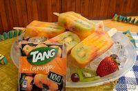 Picolé com frutas