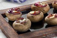 Cogumelo especial recheado com queijo