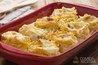 Ninho com queijo gratinado