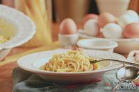 Espaguete à carbonara clássico