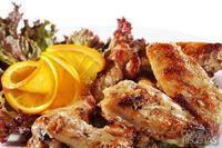 Asas de frango fritas