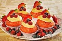 Cupcake de frutas vermelhas diferente