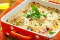 Escondidinho de batata com presunto e queijo