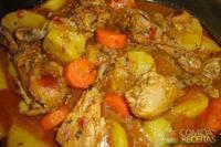 Frango ensopado com legumes