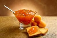 Geleia de pêssego e laranja