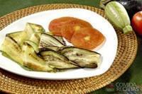 Legumes em tiras grelhados
