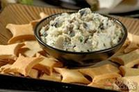 Pasta de berinjela com cream cheese