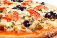 Pizza de alcachofras