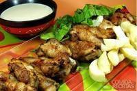 Sobrecoxas de frango ao molho delicioso