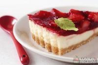 Torta cheesecake de morango