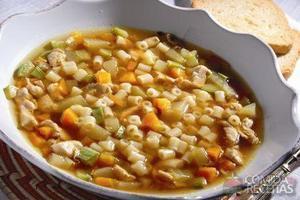 Sopa de ave maria e legumes caramelizados